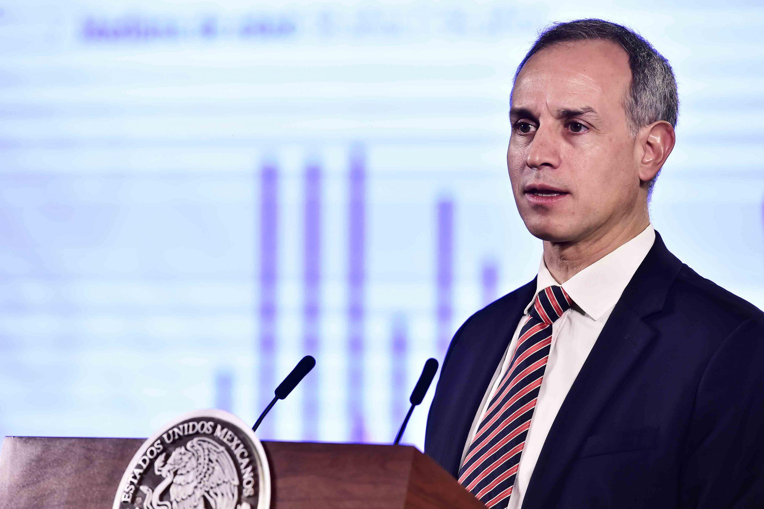 El subsecretario de Prevención y Promoción de la Salud, Hugo López-Gatell en conferencia en la Ciudad de México, México, 21 de abril de 2020.