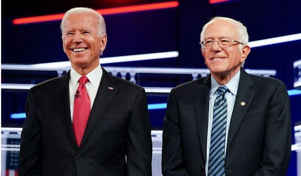 (Izq. a der.) Joe Biden y Bernie Sanders, el 17 de abril de 2020 / Foto: Facebook Joe Biden